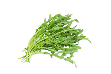 Bunch of the arugula on a light background