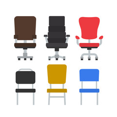 office chairs set on white background