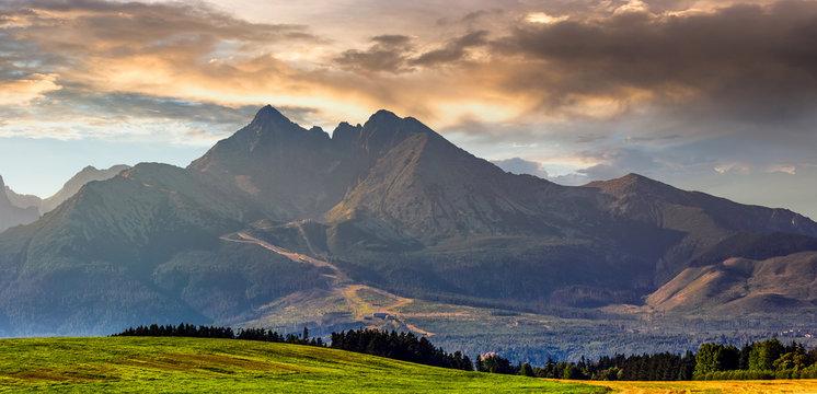 rural field in Tatra mountains