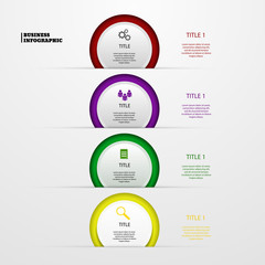 infographic circle color vector  business eps 10 illustration