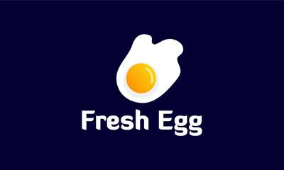 Fresh Fried Egg Logo template designs, vector illustration