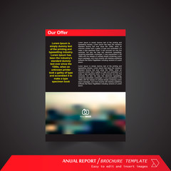 Anual Report , Brochure Template - page 12
