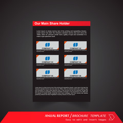 Anual Report , Brochure Template - page 13