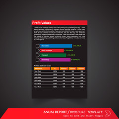 Anual Report , Brochure Template - page 16