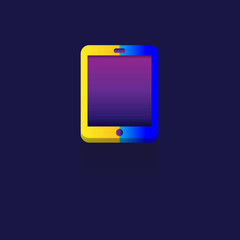 phone Color gradation. sign symbol for web, modern design vector on blue background. logo. icon.
