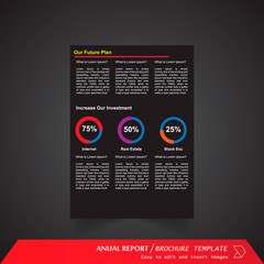 Anual Report , Brochure Template - page 18
