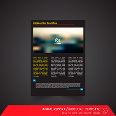 Anual Report , Brochure Template - page 19