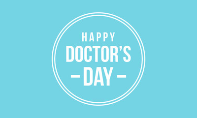 Happy doctor day background collection
