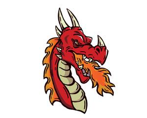 Leadership Animal Head Logo - Dragon Character