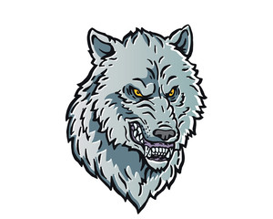 Leadership Animal Head Logo - Wolf Character