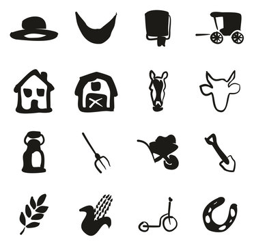 Amish Icons Freehand Fill