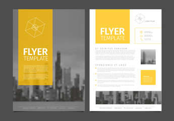 Modern brochure template flyer design vector template Wall mural