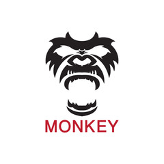 Monkey Vector decorative emblem illustration