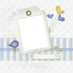 Baby scrapbooking background - place your photo and text