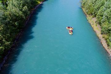 Fototapete - Rafting - Vista aerea