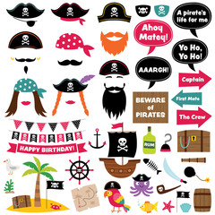 Pirate party decoration and photo booth props