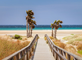 beach of Tarifa, Andalusia, Spain,
