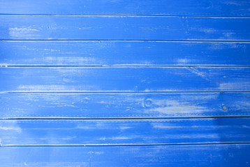 Blue Vintage Wooden Background, Copy Space