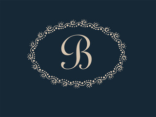 Abstract B Monogram Elegant Logo Design
