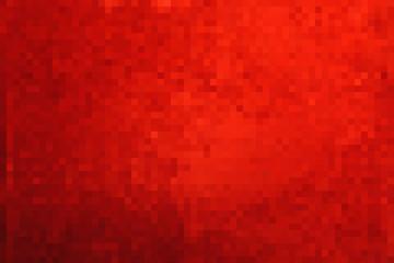 Красный абстрактный квадратный пиксельный мозаичный фон. Векторная иллюстрация.