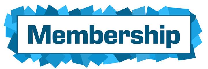 Membership Blue Random Shapes Horizontal