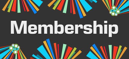 Membership Dark Colorful Elements
