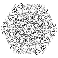 Indian ornament kaleidoscopic floral mandala