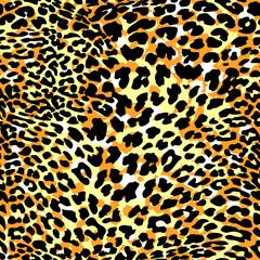 Fashion leopard exotic seamless pattern.