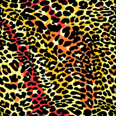 Fashion leopard exotic seamless pattern.