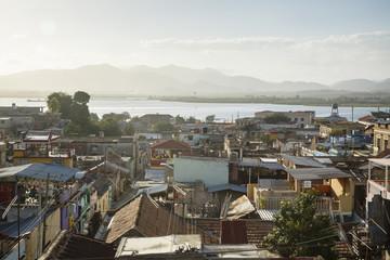 View of the Tivoli neighborhood and the harbor, Santiago de Cuba, Cuba.