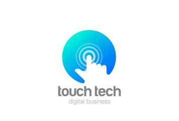 Mobile Touchscreen technology Logo vector Negative space