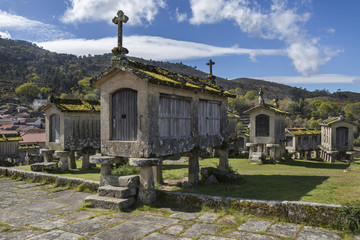 Old Granaries at Lindoso - Portugal