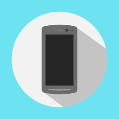 smartphone icon in the style flat design