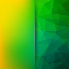 Abstract polygonal vector background. Geometric vector illustration. Creative design template. Abstract vector background for use in design. Green, yellow colors.
