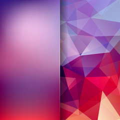 Abstract polygonal vector background. Geometric vector illustration. Creative design template. Abstract vector background for use in design. Red, purple colors.