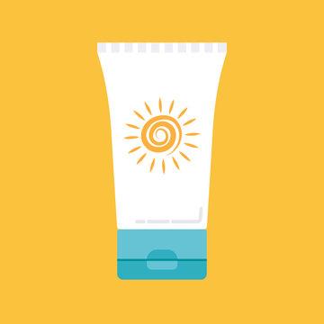 sunscreen vector icon