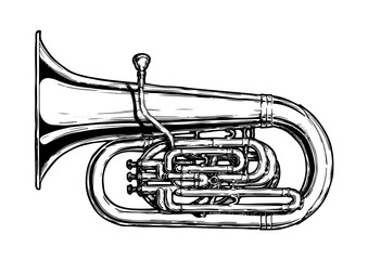 illustration of  tuba