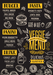 Vegan menu restaurant, food template.
