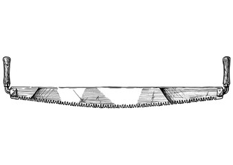illustration of crosscut saw