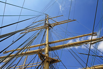 Mast of one russian sailboat