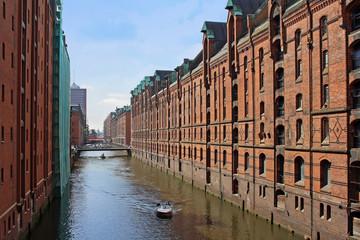 Speicherstadt is a old storage and warehouse district in Hamburg