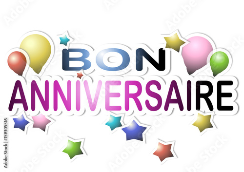 Bon Anniversaire Stock Photo And Royalty Free Images On Fotoliacom