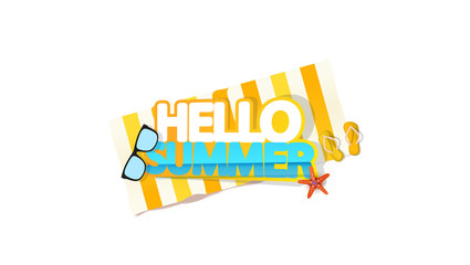 Hello Summer Quality Vector Abstract Design,