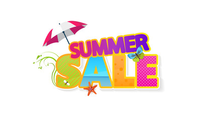 Summer Sale Quality Vector Abstract Design,