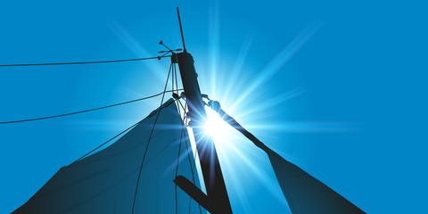 bateau - voilier - mât de bateau - mât de voilier - marin