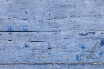 old wooden background with a blue tint texture, close-up