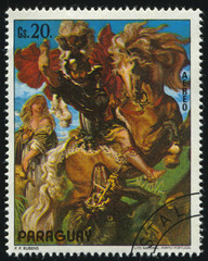 Saint George Slaying the Dragon by Rubens