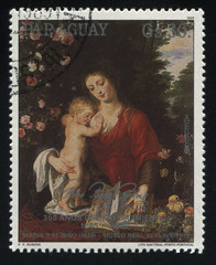 Woman and Child Reading the book by Rubens