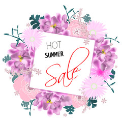Hot summer sale vector background