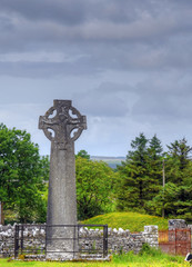 Celtic Crosses in Kilfenora, Ireland.